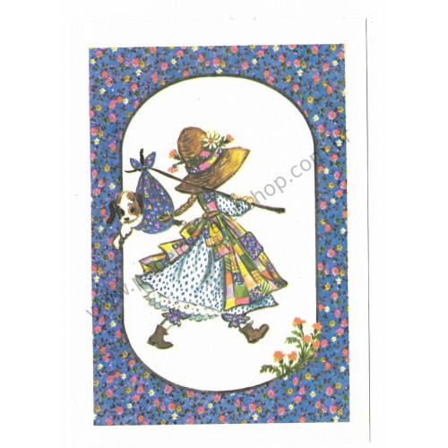 Cartão Postal ANTIGO COM SELINHO Holly Hobbie AZ