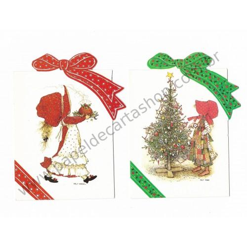 Dupla de Cartões Importados HOLLY HOBBIE - Carlton Cards Canada