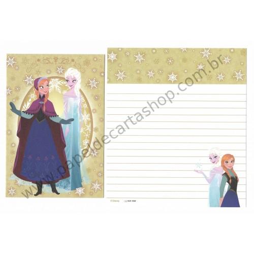 Conjunto de Papel de Carta Disney Frozen - Elsa & Anna (ND2)