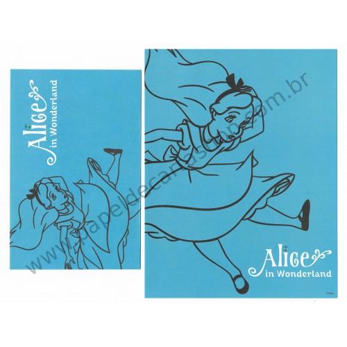 Conjunto de Papel de Carta Disney Alice in Worderland (Blue)