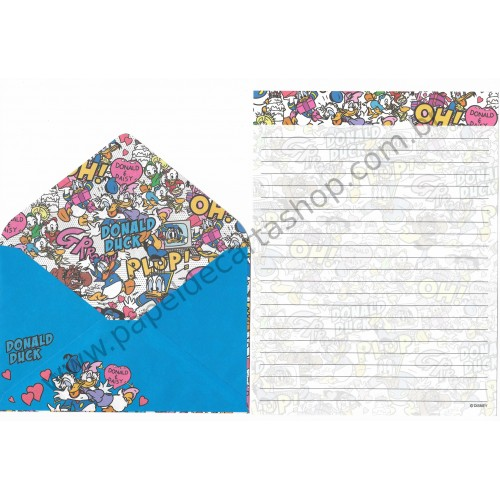 Conjunto de Papel de Carta Donald & Daisy (CAZ)