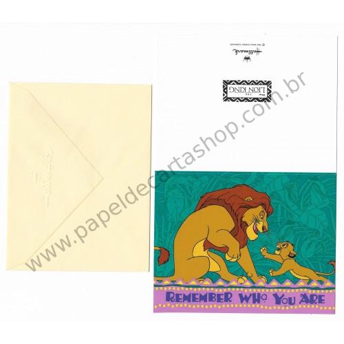 Cartão Disney Lion King Remember Who You Are - Hallmark