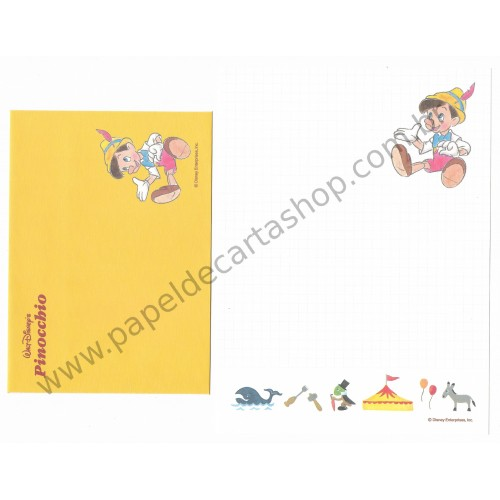 Conjunto de Papel de Carta Disney Pinocchio - Disney Enterprises