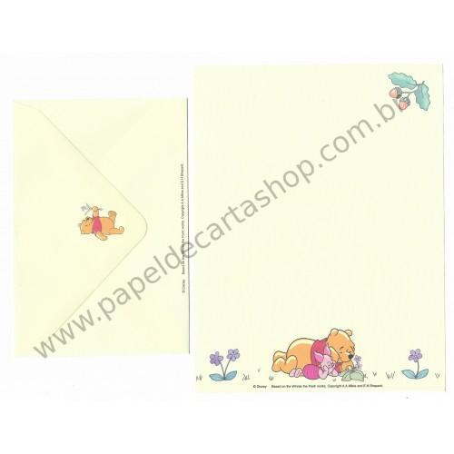 Conjunto de Papel de Carta Antigo Vintage Disney Winnie The Pooh Works