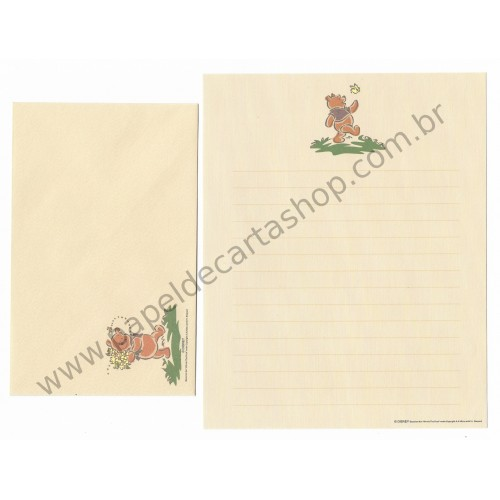 Conjunto de Papel de Carta Disney Winnie The Pooh Works (Kraft)