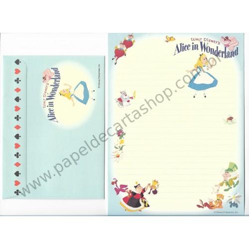 Conjunto de Papel de Carta Disney Alice in Wonderland - Disney Enterprises