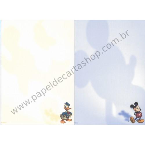 Conjunto de Papel de Carta Disney Mickey & Donald Dupla AZ