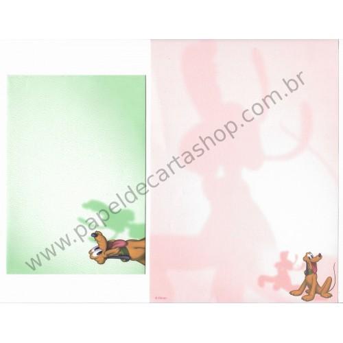 Conjunto de Papel de Carta Disney Pluto & Pateta Dupla VD