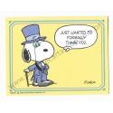 Notecard Cartão ANTIGO Importado Snoopy Thank You (CLL) - Hallmark Cards