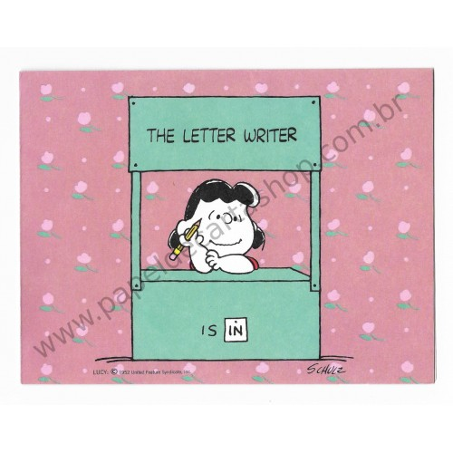 Notecard ANTIGO Importado Lucy Van Pelt - Hallmark