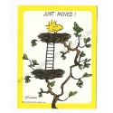 Notecard ANTIGO Importado Woodstock Just Moved! Hallmark