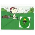 Postalete ANTIGO IMPORTADO COM SELINHO PARA COLAR Snoopy Golf Hmk