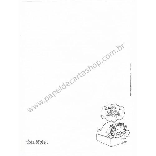 Anos 80. Conjunto de Papel de Carta Garfield N.50004-8