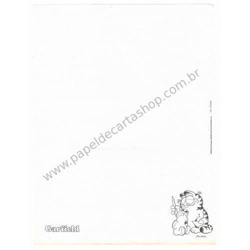 Anos 80. Conjunto de Papel de Carta Garfield N.50009-9