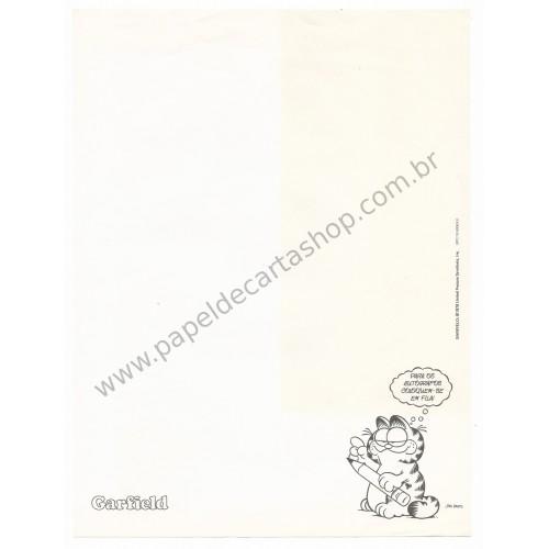 Anos 80. Conjunto de Papel de Carta Garfield N.50003-0