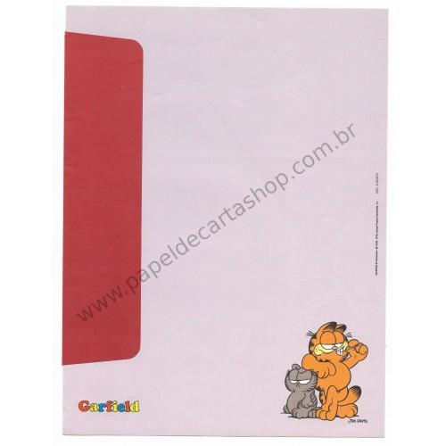 Anos 80. Conjunto de Papel de Carta Garfield N.50007-2