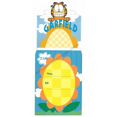 Ano 1978. Conjunto de Papel de Carta Antigo Importado Garfield Sunflower - Paws