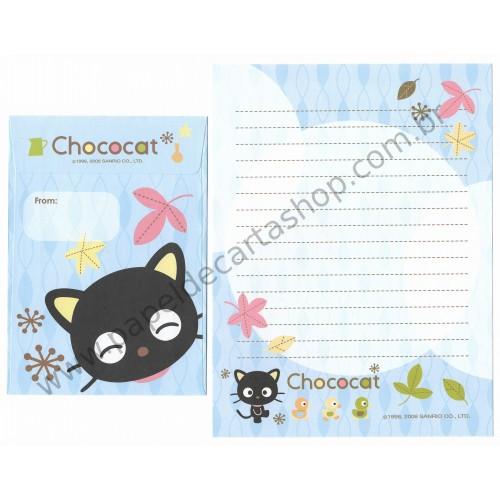 Ano 2006. Conjunto de Papel de Carta Chococat AZ Sanrio