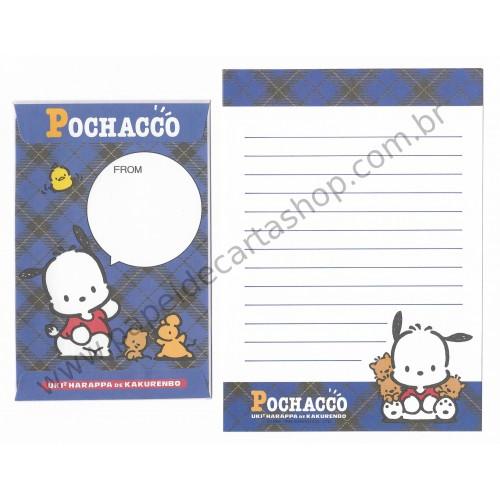 Ano 1996. Conjunto de Papel de Carta Pochacco PAZ Vintage Sanrio