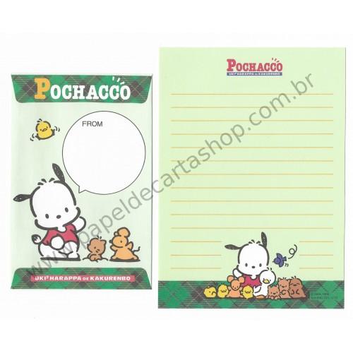 Ano 1996. Conjunto de Papel de Carta Pochacco PVD Vintage Sanrio