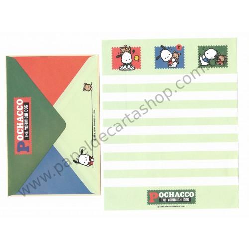Ano 1994. Conjunto de Papel de Carta Pochacco CVD Vintage Sanrio