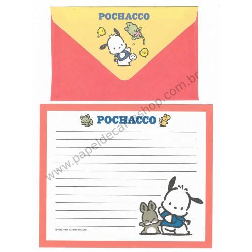 Ano 1995. Conjunto de Papel de Carta Pochacco CLA Vintage Sanrio