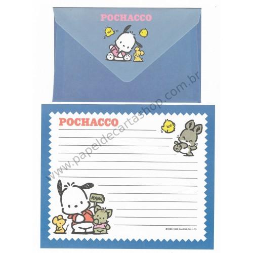 Ano 1995. Conjunto de Papel de Carta Pochacco CAZ Vintage Sanrio