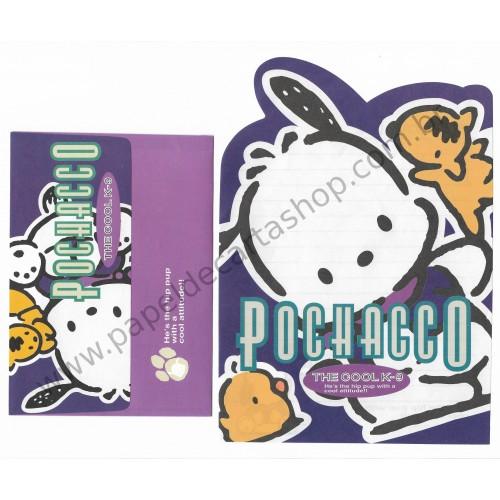 Ano 1996. Conjunto de Papel de Carta Pochacco The Cool K-9 Vintage Sanrio