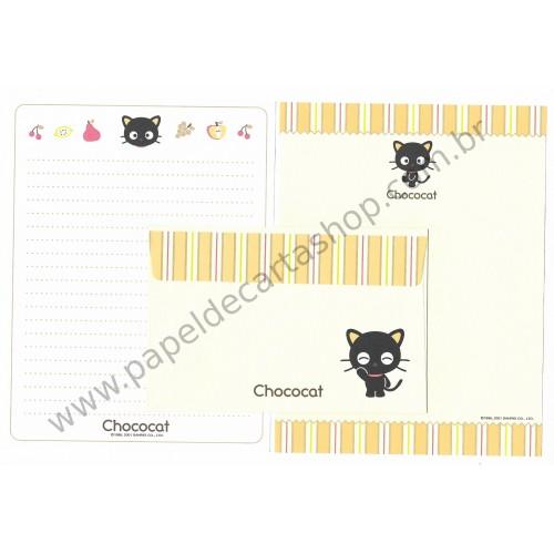 Ano 2001. Conjunto de Papel de Carta Chococat Dupla Sanrio
