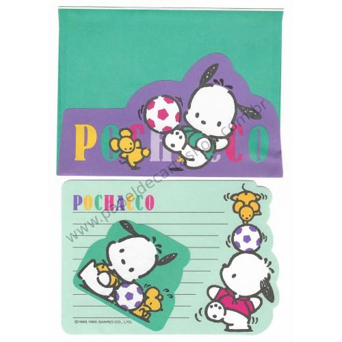 Ano 1995. Conjunto de Papel de Carta PVD Pochacco Vintage Sanrio