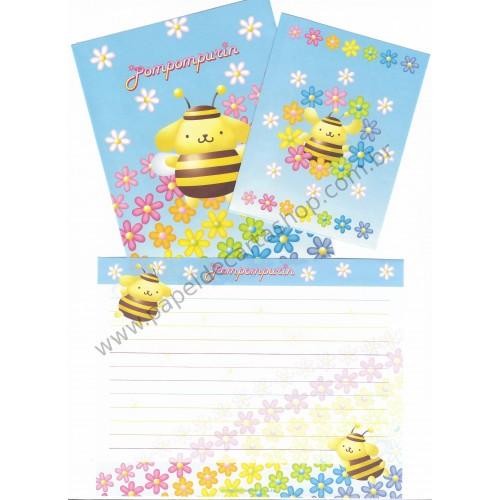 Ano 2002. Conjunto de Papel de Carta PomPomPurin Bee1 Sanrio