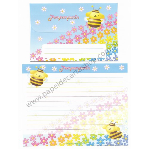 Ano 2002. Conjunto de Papel de Carta PomPomPurin Bee2 Sanrio