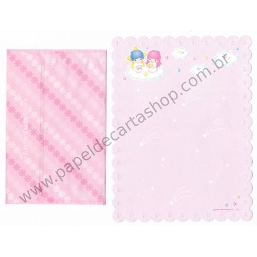 Ano 1999. Conjunto de Papel de Carta Little Twin Stars P&B Sanrio