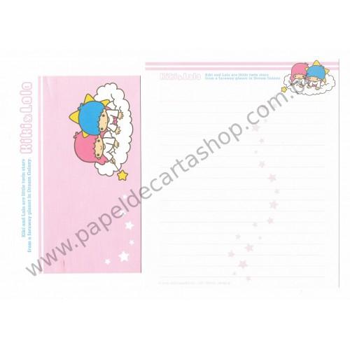 Ano 2003. Conjunto de Papel de Carta Kiki & Lala Dream Galaxy RS1 Sanrio