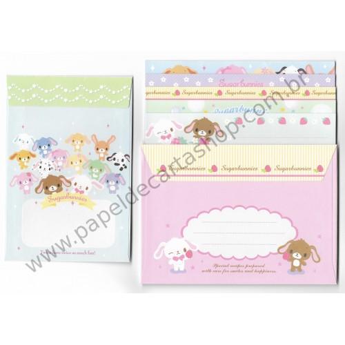 Ano 2010. Kit 3 Conjuntos de Papel de Carta Sugarbunnies Sanrio