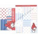 Ano 2013. Kit 4 Conjuntos de Papel de Carta My Melody Mariner Sanrio