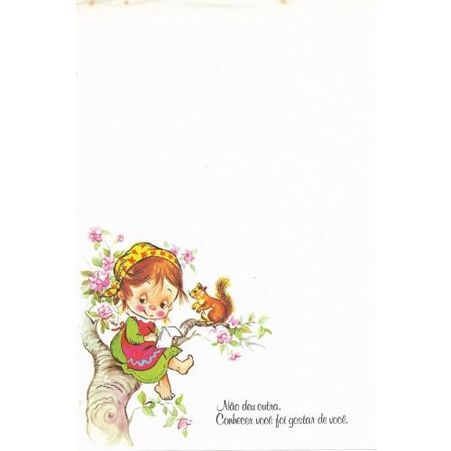 Coleção Paula L06. Papel de Carta Avulso