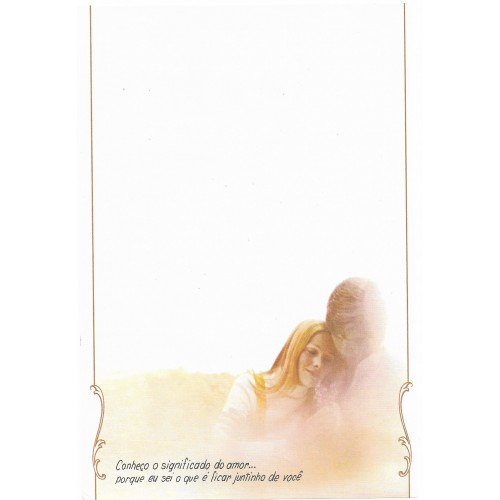 Coleção Paula R05. Papel de Carta Avulso