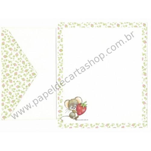 Conjunto de Papel de Carta Antigo Importado Mouse - Hallmark