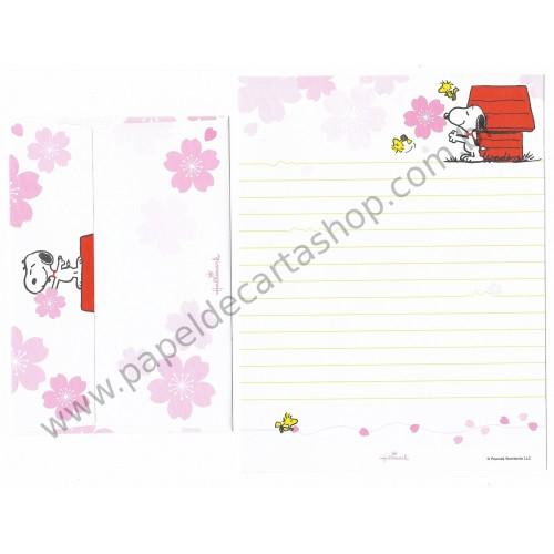 Conjunto de Papel de Carta Snoopy and his friends - Peanuts Nihon Hallmark