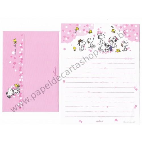 Conjunto de Papel de Carta Snoopy and brothers - Peanuts Nihon Hallmark