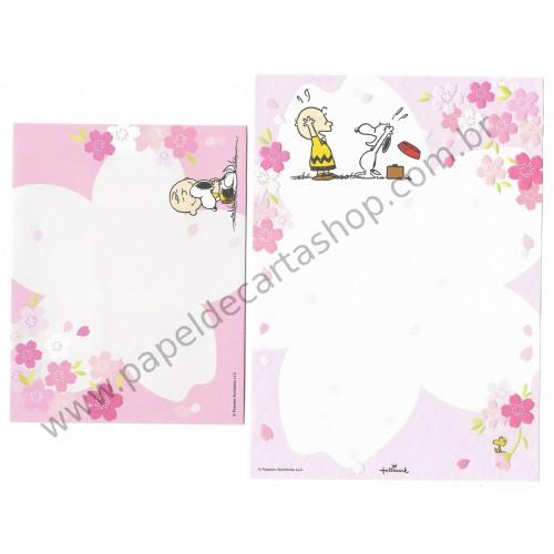 Conjunto de Papel de Carta Snoopy and Charlie - Peanuts Nihon Hallmark