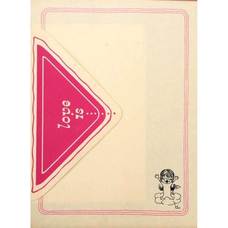 Conjunto de Papel de Carta Antigo Importado Love is... 02