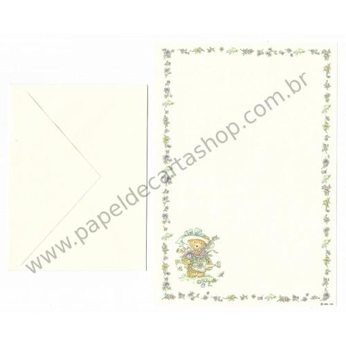 Conjunto de Papel de Carta Antigo Importado Mary Hamilton BEAR 04 - Hallmark