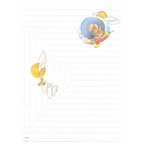 Conjunto de Papel de Carta Antigo Coleção Kartos - Urso