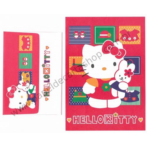 Ano 1996. Conjunto de Papel de Carta Kitty CVM Sanrio