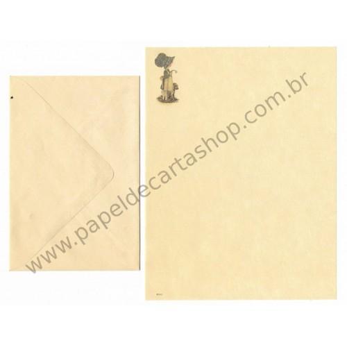 Conjunto de Papel de Carta ANTIGO Holly Hobbie - M57