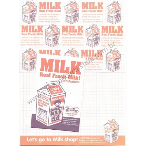 Conjunto de Papel de Carta MILK - Art-Box Korea