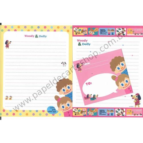 Conjunto de Papel de Carta Woody & Dolly Dupla - Art-Box Korea
