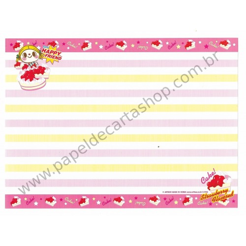 Papel de Carta AVULSO Cake Strawberry Flavored - Art-Box Korea